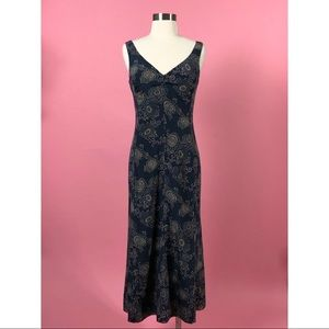 J Crew silk floral blue pink maxi dress 4 s